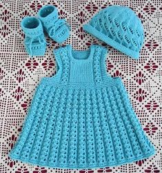 Vauvan mekko ja asusteet–Baby's dress and set « Jalat – Feet Mostly I knit or crochet but you can find something else too. Baby Knitting Patterns, Baby Dress Patterns, Knitting For Kids, Baby Summer Dresses, Baby Girl Dresses, Crochet Baby Blanket Beginner, Crochet Baby Clothes, Baby Cardigan, Girl Doll Clothes