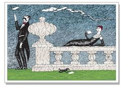 Edward Gorey's Mysterious Messages Notecards