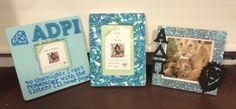 Frames I made for my two little diamond sisters :) #adpi #sorority #craft @Alpha Acosta Acosta Delta Pi