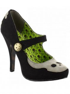 """Necrotic""+Heels+by+Bettie+Page™+Shoes+(Black)"