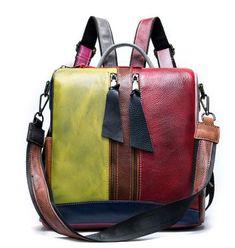 Cowhide Bag, School Bags For Girls, Convertible Backpack, Girl Backpacks, Leather Backpacks, School Backpacks, Ali Express, Handbag Accessories, Leather Shoulder Bag