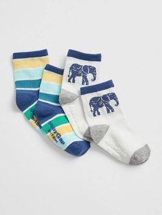 45391dac7da Gap Babies  Baby Elephant Socks (2-Pack) New Off White