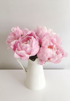 Gorgeous pink peonies that freshen up the home.