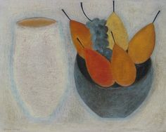 Pale Jar with Pears and Grapes, (2015) by Vivienne Williams