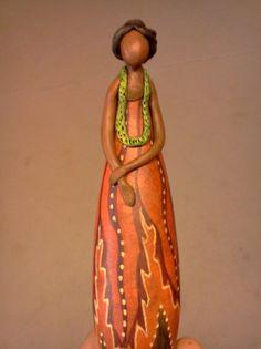 Jennifer Zingg Studio | Gourds | Gourd Art | SCHEDULE African American Figurines, Black Figurines, Painted Gourds, Popular Art, Wood Creations, Gourd Art, Native Art, Colour Schemes, Medium Art