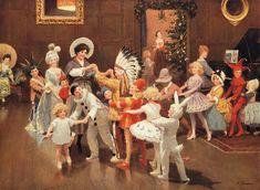 percy tarrant artist | Christmas Fancy Dress Party by Percy Tarrant.