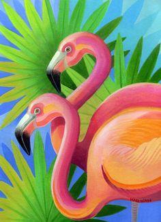 Flamingos by Johnny Karwan