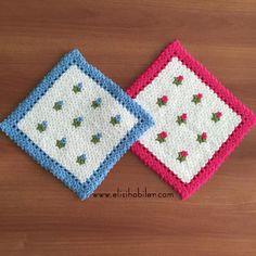 Kare Lİfler #lif #knitting #ceyiz #örgü #elisi #hobi