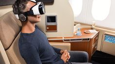 Qantas becomes first airline to offer passengers in-flight entertainment via a virtual reality headset.