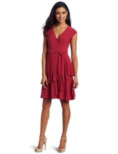 $64 - Sexy?  Or is it the color?  Matte Jersey Wrap Dress