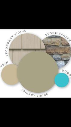 Exterior colors: turquoise door