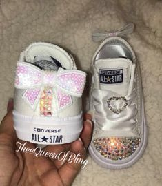 ee964807a495 Items similar to Minnie Mouse Rhinestone Converse Shoes