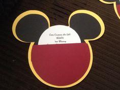 Cricut mickey mouse invitation