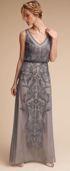 Beautifully embellished bridesmaid dress