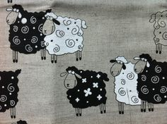 Hey, I found this really awesome Etsy listing at https://www.etsy.com/listing/231829503/linen-blend-sheep-fabric-quilting