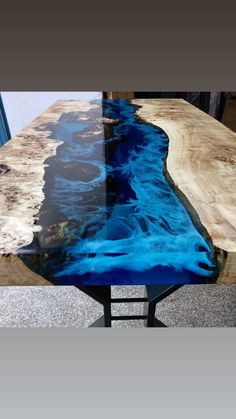 Diy Resin Wood Table, Epoxy Table Top, Diy Table Top, Epoxy Resin Table, Solid Wood Table, A Table, Wood Tables, Live Edge Furniture, Resin Furniture