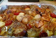 Különleges egybesült csirkecombok Hungarian Recipes, Hungarian Food, Diy Food, Pork, Cooking Recipes, Chicken, Baking, Kitchen, Bulgur