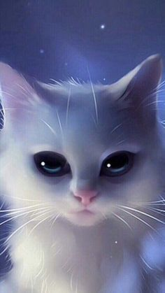 The cutest kittens - Kawaii - Animals Anime Animals, Funny Animals, Cute Animals, Cute Cat Wallpaper, Animal Wallpaper, Cute Animal Drawings, Cute Drawings, Baby Animals Super Cute, Cute Cats And Dogs