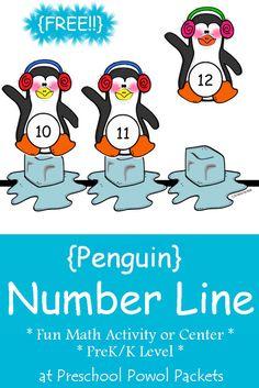 Numbers Preschool, Free Preschool, Preschool Themes, Preschool Printables, Preschool Winter, Fun Math Activities, Winter Activities, Artic Animals, Blog