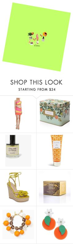 """Citrus"" by sasha-gm ❤ liked on Polyvore featuring Trina Turk, Rifle Paper Co, Vera Bradley, Pelle Moda, Kate Spade, cute, ootd, CasualChic and citrus"