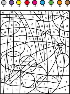 coloriage Jeu de coloriage numéroté : chiffres et mer n°7