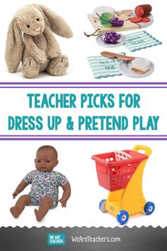 Imaginative play has value, especially for our youngest learners. We rounded up our favorite dress up and other items for encouraging creative play. Discounts For Teachers, Green Toys, Social Emotional Learning, Dramatic Play, Creative Play, Early Childhood Education, Imaginative Play, Best Teacher, Elementary Schools