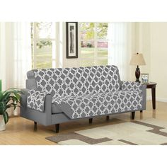 Reclining Sofa Austin Reversible Solid Print Microfiber Furniture Protector With Strap u Side Pockets