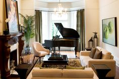 Piano in the living room