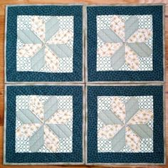 Trivets, Table Topper, Table Runner in a lucky clover pattern to honor St. Patrick's Day.