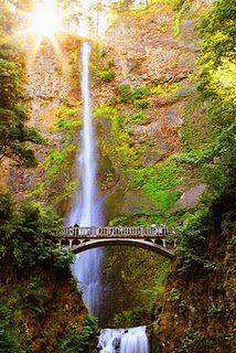 Oregon  - Multonomah Falls...hike to the top of the falls for a spectacular view of the Columbia River.