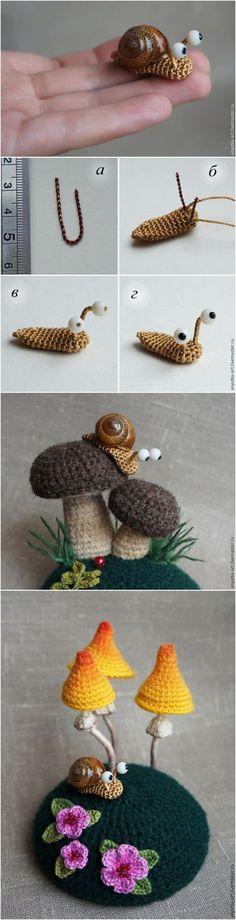 Crochet Snail with Free Pattern. Deze is echt über schattig!!!!