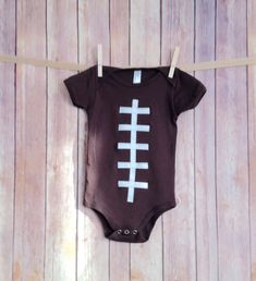 b4beb3562 Baby Football Onesie, Baby Football Outfit, Newborn Football Onsie, Boys  Football Clothing
