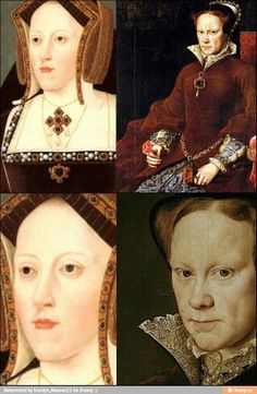 Catherine of Aragon ( left) and her daughter Queen Mary I of England.