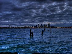 """Puget Sound and Seattle from Alki Beach, Washington. Puget Sound is an inlet of the Pacific Ocean.  (""""1,000 Places to See Before You Die/ A Traveler's Life List"""" by Patricia Schultz) shared via #flickr.com"""