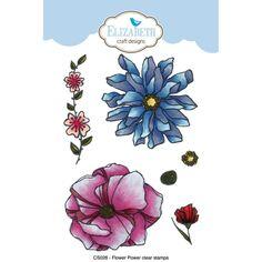 PRE-ORDER Elizabeth Craft Krista Schneider Flower Power Stamp Set
