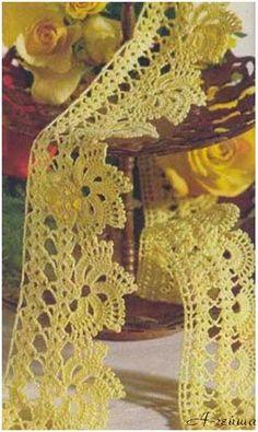 Simplesmente Artesanato: Barrados 2 - crochê