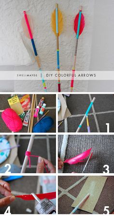 Teen DIY: DIY Colorful Arrows to hang on the walls! with pictures maybe?