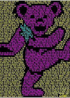 Grateful Dead Quotes, Grateful Dead Poster, Grateful Dead Bears, Guitar Tattoo Design, Clown Posse, Best Part Of Me, Rock Art, Trippy, Greeting Cards
