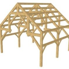 24x24 Hammer Truss Timber Frame