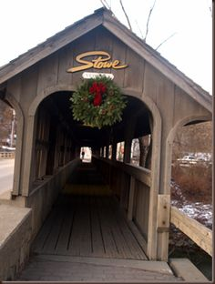 we were here Vermont is known for its collection of covered bridges. Here is one in #Stowe #Vermont