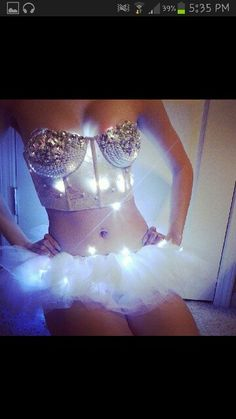 White Sparkle, Light Up Costume.