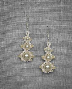 Perlina Earrings  Bridal Earrings Bridal by TheLovedOneAtelier