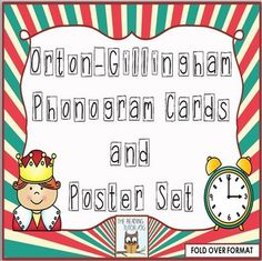 93 phonogram flash cards and posters in fold over format.