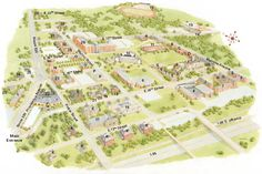 33 Best Campus Maps Images Campus Map Blue Prints Cards