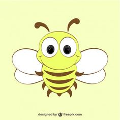 Cartoon Bee Icon Free Vector
