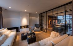 New Modern Living Room Design Coppin Penthouse Living Room Modern modern living room decor ideas - Modern Decoration Living Room Modern, Interior Design Living Room, Home And Living, Living Room Designs, Living Rooms, Modern Interior, Interior Livingroom, Kitchen Living, Living Area