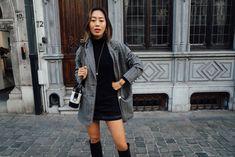 Mini Skirt & Turtleneck in Belgium | Song of Style