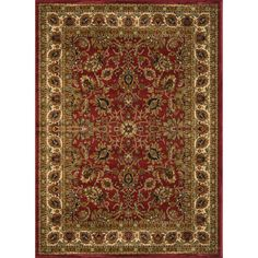 Royalty Red Area Rug