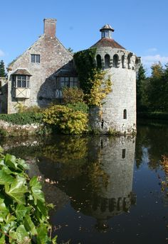 Castles, Reflection, October, England, Mansions, House Styles, Creative, Travel, Home Decor