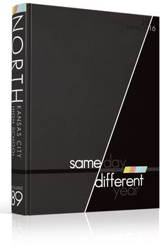 """Yearbook Cover - North Kansas City High School - """"Same Day, Different Year""""…"""